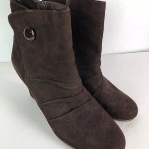 New Aerosoles Brown Suede Ankle Boots Bootie